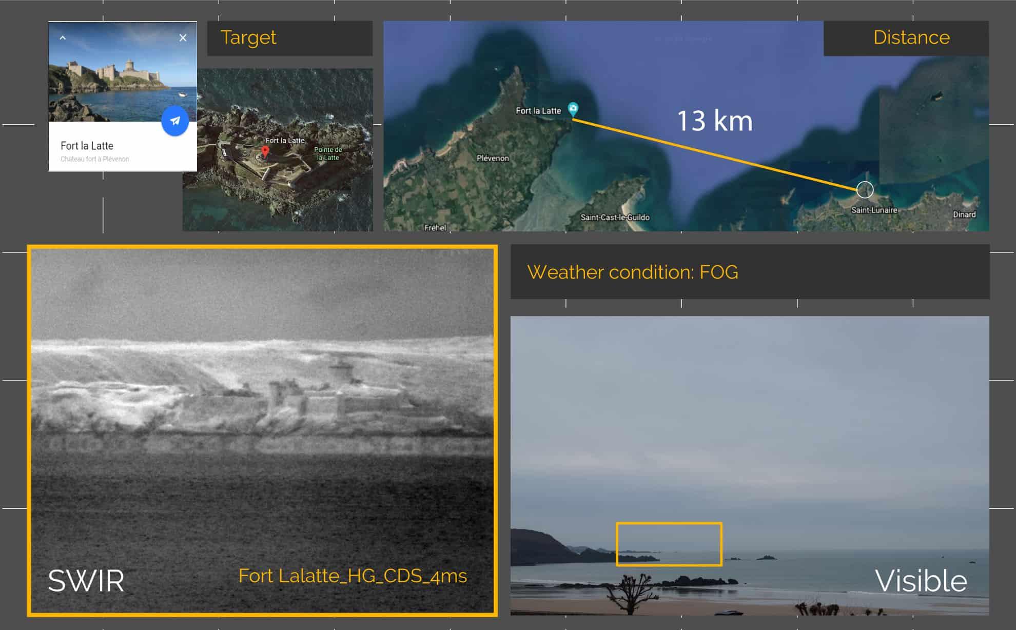 Fort la Latte observation with NIT SWIR camera